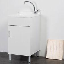 Lavatoio lavapanni bianco 45x50 design moderno su piedini per interno lavanderia