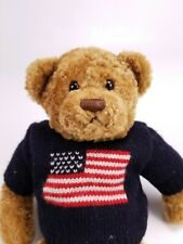 "Gund Teddy Bear Plush Theodore 15072 USA Flag Vtg 11"" Patriotic Stuffed Animal"