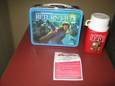 Vintage 1983 Star Wars Return of the Jedi Metal Tin Lunch Box w/Thermos