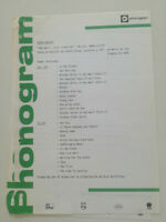 ROGER WATERS*SPAIN PROM0 PRESS SHEET 1990*The Wall - Live In Berlin*PINK FLOYD
