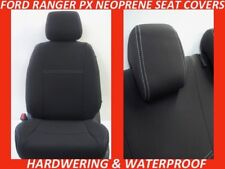 FITS FORD RANGER PX MKII FRONT&REAR NEOPRENE SEAT COVERS FULL BACKS 4xMAP POCKET