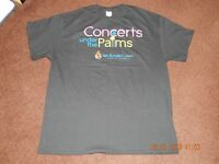CONCERTS UNDER THE PALMS SPA RESORT CASINO PALM SPRINGS T-SHIRT SIZE XL NEW