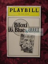 PLAYBILL BILOXI BLUES Matthew Broderick Neil Simon Theatre