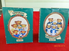 Vintage Upstairs 00006000  Downstairs Department 56 Bear Collectable Figurines Lt of 2 Nib