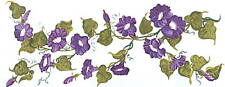 Morning Glories Purple Transfer Art Decals Wall Designs
