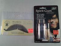 Medium Brown European Moustache w/ ADHESIVE 100% Human Hair Mustache Style2012