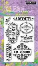 """Hero Arts Clear Stamps Phrases AMOUR Love Theme 4""""x 6"""""""