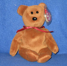TY NEW FACE BROWN TEDDY BEANIE BABY - MINT with MINT TAG