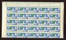 DOMINICA 1965 ITU 2c..+ VARIETY MINT SHEET of 50 stamps