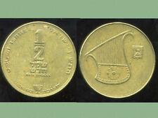 ISRAEL 1/2  new  sheqel  1990  ( 1 )