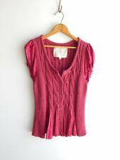 CHELSEA & VIOLET~ Sweet Soft Chunky Cable Knit Summer Sweater ~ L