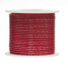 "28 AWG Gauge Stranded Hook Up Wire Red 100 ft 0.0126"" PTFE 600 Volts"