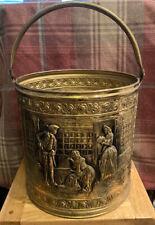 Vintage brass coal bucket