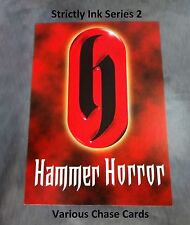 Hammer Horror Series 2 - Variety Autograph & Costume Chase Cards Strictly Ink