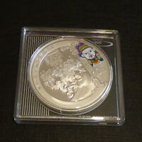 China 10 yuan 2008 Beijing Olympics TEA STALL colored Proof silver 999 1 oz