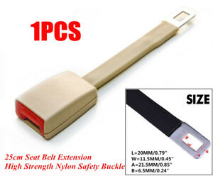 Beige 25cm Car Seat Seatbelt Extender Universal Fit for Car SUV Truck Durable