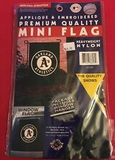 "Oakland Athletics Mini Flag 15"" X 10.5"" New In Package"