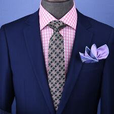"Brown Stylish Italian Check Pattern 3"" Necktie Business Formal Elegance"