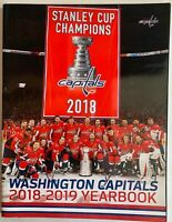 2018-2019 WASHINGTON CAPITALS YEARBOOK STANLEY CUP CHAMPIONS NHL HOCKEY
