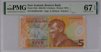 New Zealand 5 Dollars 2009 Polymer P 185 Superb Gem UNC PMG 67 EPQ