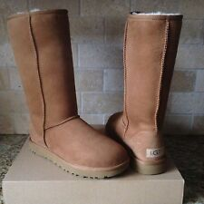 UGG Classic ll Tall Chestnut Suede Sheepskin Boots US 8 Womens 1016224