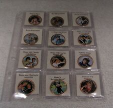 New listing Princess Diana Colorized Uk One Penny Coin Collection Qty 12 - Life & Marriage