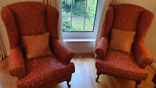 Queen Anne Chairs - beautifully upholstered - excellent condition