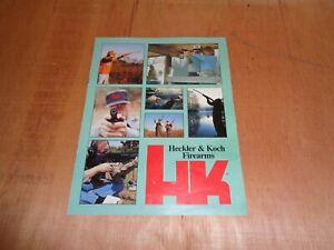 Heckler & Koch 1991 Firearms Catalog & Price List Leaflet Brochure