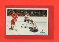 1971-72 Canadiens Ken Dryden Pro Star NHLPA Postcard Nrmnt+  VS  Detroit