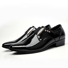 Mens British Shiny Pointy Toe Evening Party Low Top Dress Formal Leather Shoes 9
