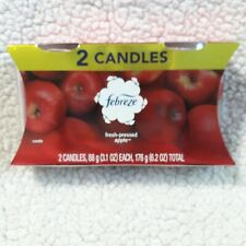 Febreze Limited Edition Fresh Pressed Apple Scented Candles 2 Pack New In Box