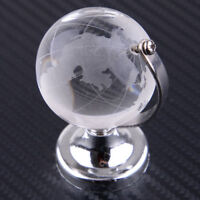 40mm Klar Glas Globus Glaskugel Erde Kristall Erdkugel Tisch Ständ Deko Geschenk