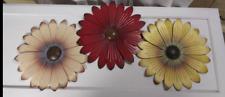 Metal Flower Wall Hanging, set of 3, spring, floral, home decor, craft