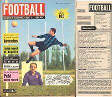 RIVISTA-CALCIO-FOOTBALL-SETTIMANALE ILLUSTRATO-22 OTTOBRE 1959-JUVENTUS-PELÈ