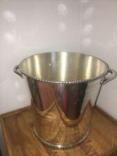 "Pottery Barn Silver Champagne Wine Ice Bucket 8""x8"" Beautiful!"