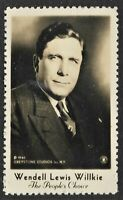 Real Picture of Wendell Lewis Willkie dated 1940 Presidential Campaign Stamp