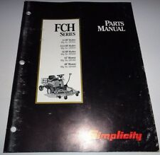 Simplicity FCH Series 12, 12.5 & 16HP Front Mower Parts Catalog Manual 6/93