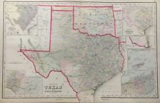 Gray's New Map of Texas Original 1884 Map Frank A. Gray