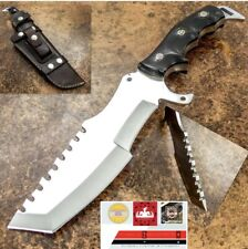CUTLERY RARE CUSTOM D2 MIRROR POLISHED BOWIE KNIFE Buffalo HANDLE 12 Inches