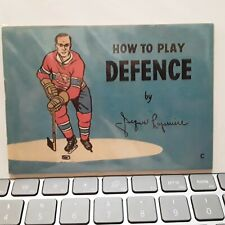 """1966-67 Coca-Cola """"How to Play"""" Booklet Defence Jacques Laperriere 'English'"""