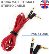 Gold 3.5mm Male to Male Angle Cable Stereo 1.2m phone MP3 Bluetooth Speaker Lead