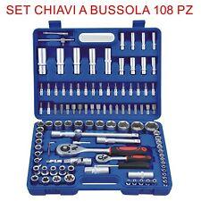 Set Chiavi Combinate a Cricchetto 108 Pz Chiavi a Bussola con inserti EN-28907