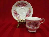 Queen Anne  Floral Patt Numbered 8629  Bone China Tea Cup And Saucer Set