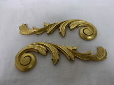 FURNITURE MOULDINGS ORNATE SCROLLS ANTIQUE GOLD RESIN
