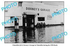 OLD 8x6 PHOTO OF DORNEY'S GARAGE CHINCHILLA QLD c1956 FLOODS MOBIL PLUME etc