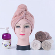 Magic Hair Drying Towel Hat Cap Microfibre Quick Dry For Lady Bath Shower Cap 1X