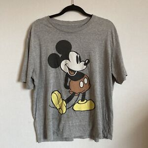 Vintage Disney T Shirt Mickey Mouse XL Extra Large Grey Classic