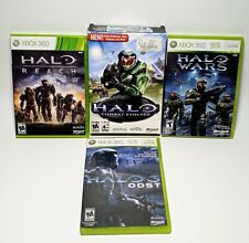 Lot of 4 Halo Video Games - Microsoft Xbox 360 & Pc Title. Reach, Wars, 3 Odst