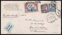 1928 Airmail Cover to Diessenhofen Switzerland via New York & Paris w/ US sc c11