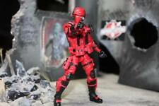 "Marauder Task Force Red ""Command-Ops"" 1:18 scale GI Joe type Figure with Gear"